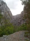 Die Schlucht im vorderen Teil des Nationalparks