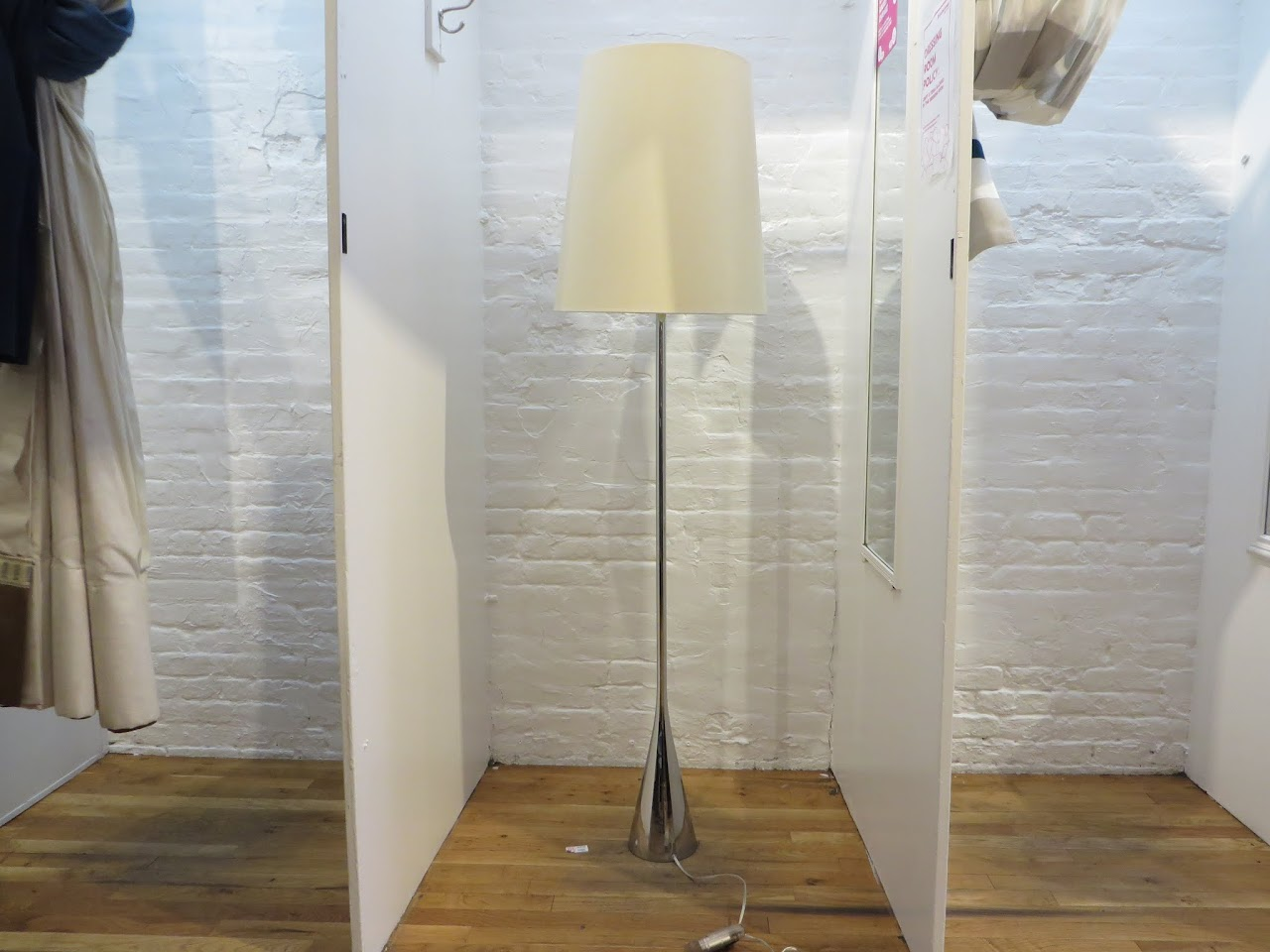 P Mourgue Silver Floor Lamp
