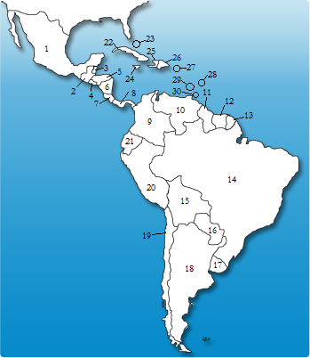 Map Of Latin America Quiz With Capitals.Capitals Of Latin And South America Quiz By Sysgsr