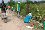 Pra TMMD Sengkuyung Tahap II Kodim 0726/Sukoharjo Bangun Talud di desa Parangjoro