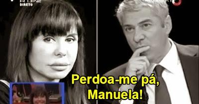 José Sócrates pede desculpa a Manuela Moura Guedes