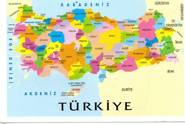 Türkiye iller haritasi