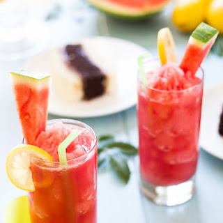 Skinny Watermelon Lemon Slushies