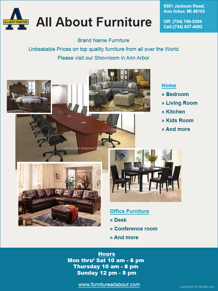 All About Furniture Michigan Home Office Furnitures