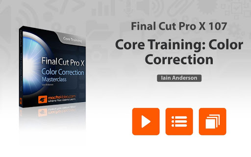 Color Correction For FCPX 10.2