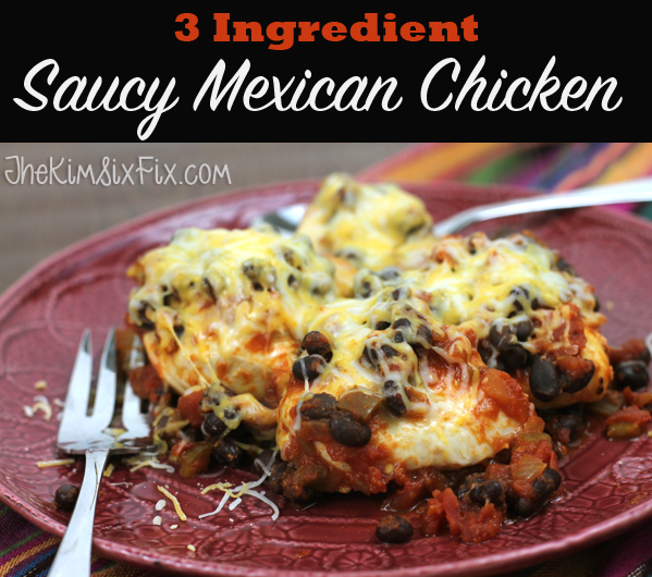 Saucy Mexican Chicken 3 Ingredient