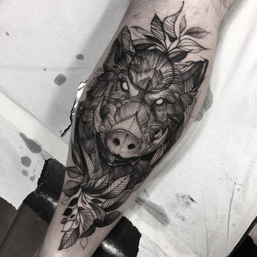 este_assustador_javali_tatuagem
