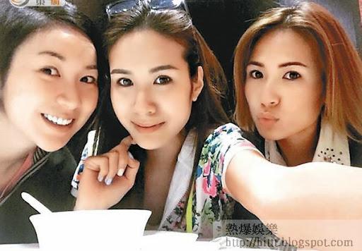莊思敏(左)、莊思明(中)姊妹檔拍劇,右為莊思華。