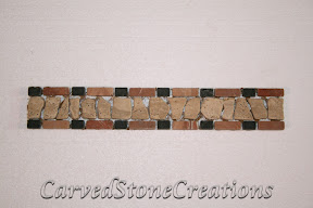 Border, Flooring, Flooring & Mosaics, Interior, Listello, Marble, Mosaic, Natural, Stone, Travertine