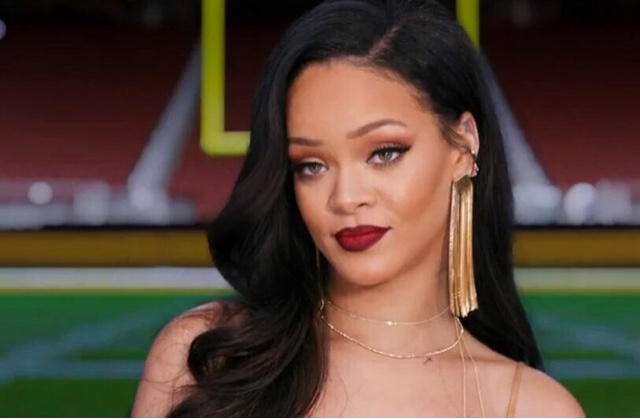 Rihanna in MAIYET for Super Bowl Commercial