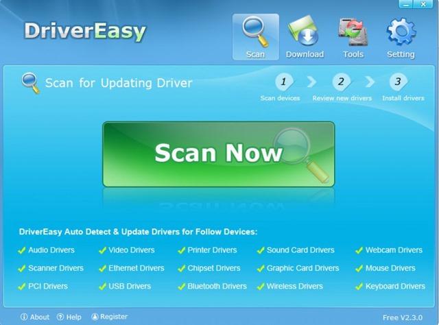 تحميل برنامج تحديث تعريفات الويندوز DriverEasy 5.0.3.14912