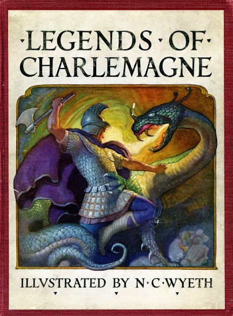 N. C. Wyeth - Legends of Charlemagne, cover illustration