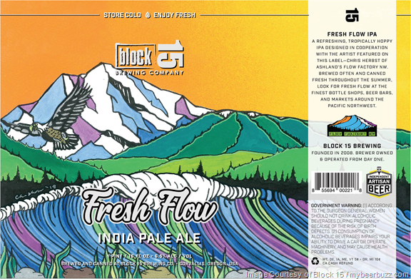 Block 15 Adding Fresh Flow IPA 16oz Cans