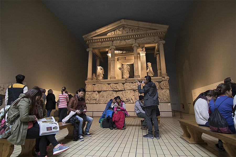 Sala del Pantenón en el Museo Británico de Londres