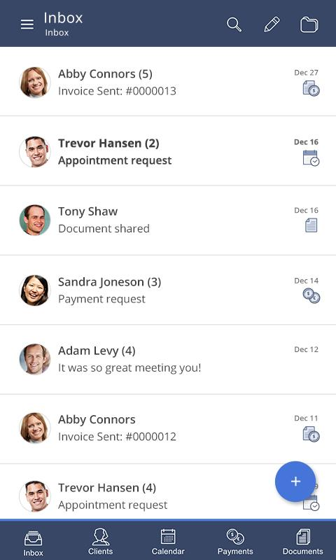 vCita CRM for Mobile- screenshot