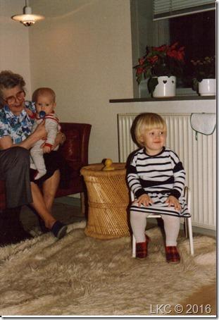 Trines fødselsdag 88 med Søren og farmor