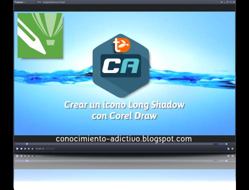 Crear un icono Long Shadow con Corel Draw