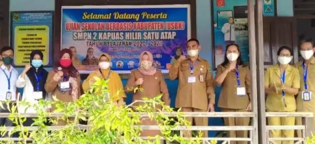 Masih Pandemi, Begini Pelaksanaan Ujian SMP di Kapuas