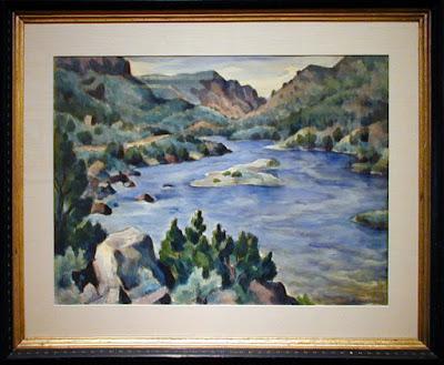 """""""Rio Grande in Spring"""" Framed"""