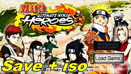 LANÇOU!! Melhor NARUTO Ultimate Ninja HÉROES LITE 100MB Para Android (PPSSPP)
