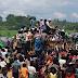 ரோஹிங்கியாவில் முஸ்லிம்களுக்கு உதவி செய்ய வந்தவர்கள் மீதும் தாக்குதல் மற்றும் ஆர்பாட்டம்.