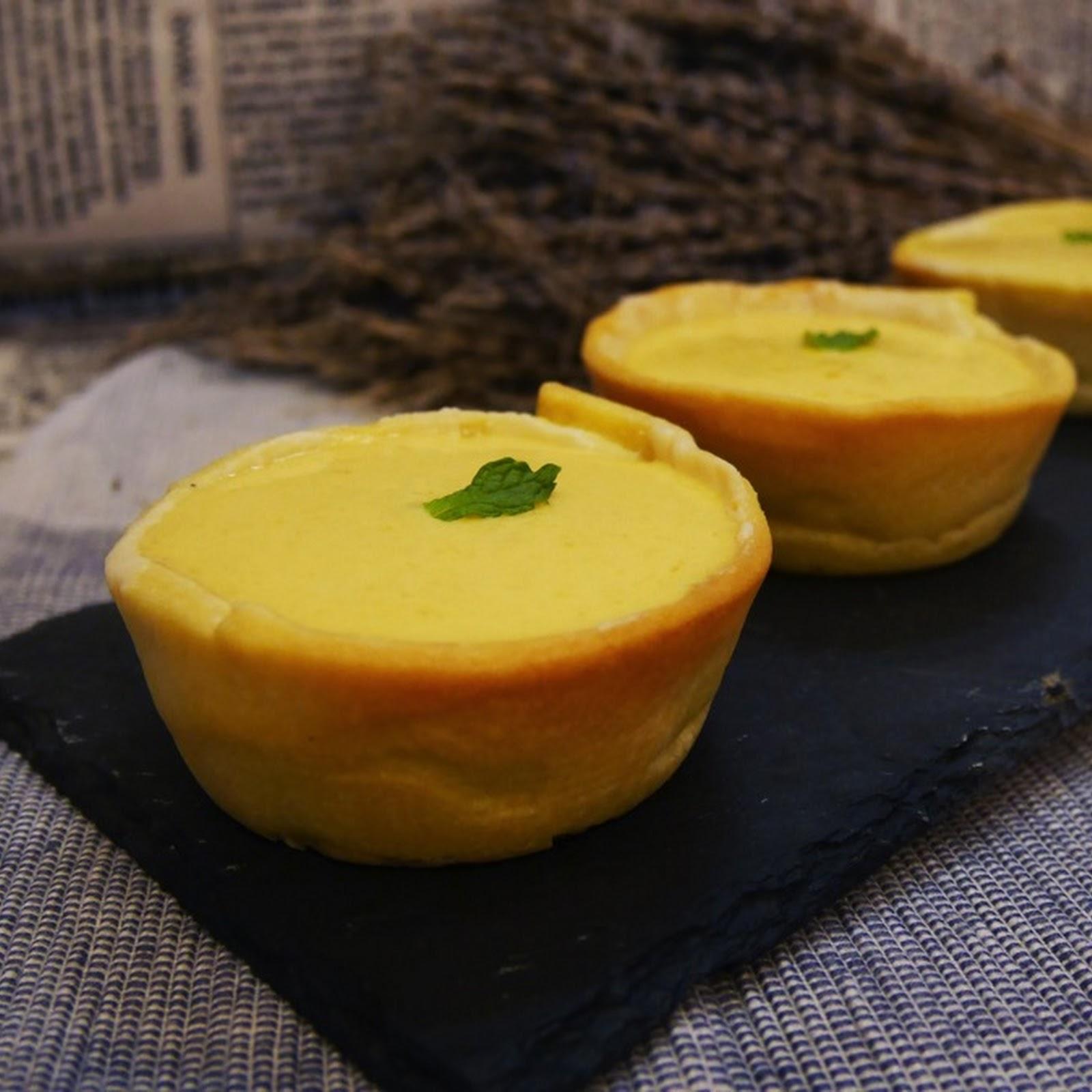 芒果流心布丁撻 Mango Lava Pudding Tart (無蛋布丁)【老娘的草根飯堂】