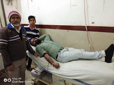 पत्रकार मोनू प्रधान ने जन्मदिन पर किया रक्तदान