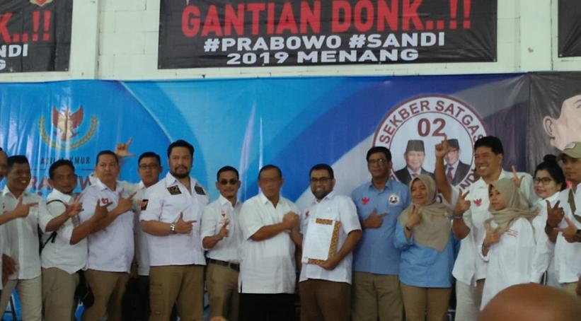 Pengukuhan Pengurus Wilayah Sekber Satgas Jakarta Raya BPN Prabowo - Sandi