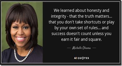 michelle O integrity
