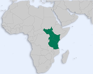 East African Community location map