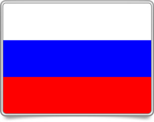 Russian framed flag icons with box shadow