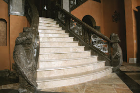 Architecture, Gallery, Interior, Marble, Newel Posts, Stair Risers, Stair Treads, Staircases, Stairs