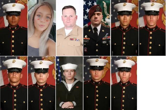 Ellos son los 13 soldados que murieron en Afganistán en ataque de ISIS; Biden les rinde honores