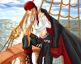 Girl Pirate On The Ship