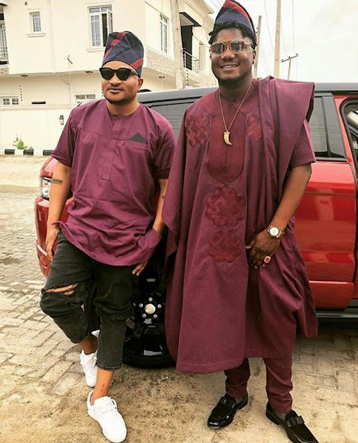 BAAD2017 : Attention to Masterkraft's outfit to Banky W and Adesua Etomi's wedding