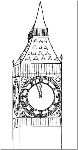 Dibujos Big Ben para colorear