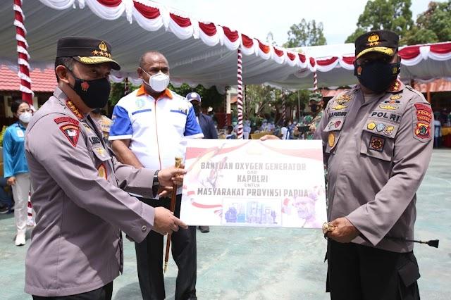 Kapolri Serahkan Oksigen Generator, Guna Bantu Penanganan Covid-19 di Papua