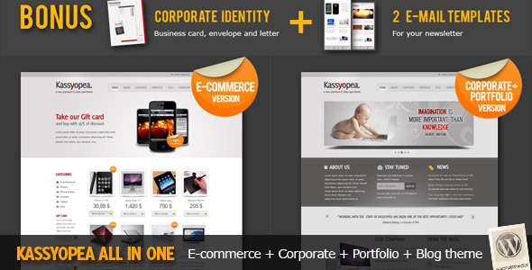 Themeforest Kassyopea All In One: Ecommerce + Corporate v1.5 - FULL