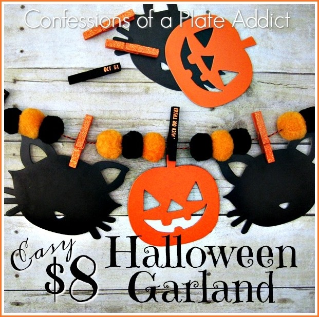 CONFESSIONS OF A PLATE ADDICT Easy $8 Halloween Garland