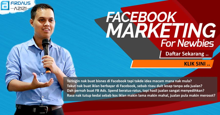 Facebook Marketing Untuk Newbies