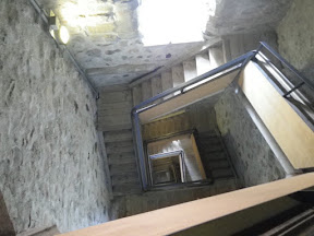 ...and to get to the top you've got to run stairs for ten minutes