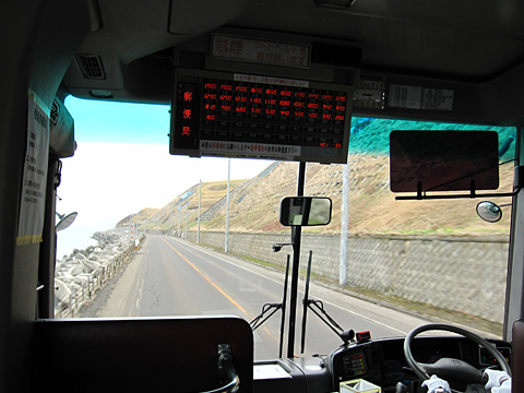 沿岸バス「豊富留萌線」 1214 車窓 その1