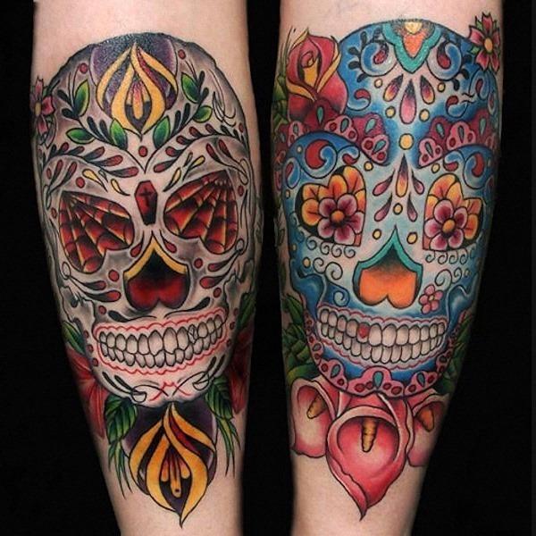 açcar_crnio_tatuagens_nos_braços