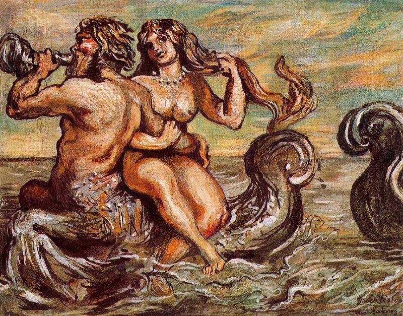 Giorgio de Chirico - Nymph with Triton