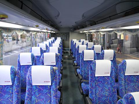 伊予鉄道「キララエクスプレス」 5212 車内