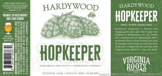 Hardywood - Hopkeeper DIPA w/Virginia Honey