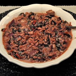 Red Chard, Red Wine Sausage Risotto.
