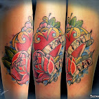arm red mom dad - Rose Tattoo
