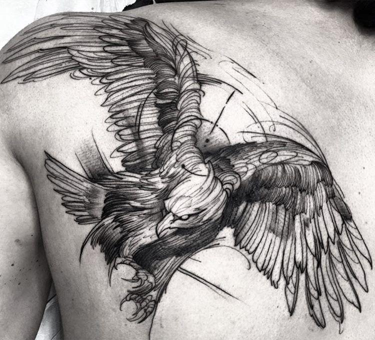 este_requintado_guia_esboço_estilo_de_tatuagem