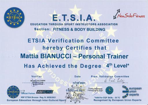 Certificazione Europea Eurethics E.T.S.I.A.